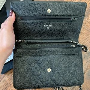 CHANEL Bags - Black Chanel Wallet On Chain SHW Made In France